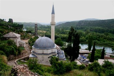 Muslim mosque in the city Pocitelj city, Bosnia.