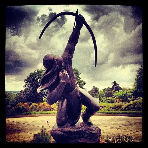 Sacred Rain Arrow statue in Tulsa, Oklahoma