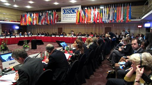 Plenary Session of the annual meeting of the Organization for Security and Co-operation in Europe, September 24, 2013, Warsaw, Poland.