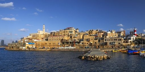 Jaffa, one of the oldest ports in the world, today Arabic neighborhood of Tel-Aviv. Mentioned in Olt Testament four times, Jaffa was the port prophet Jonah embarked from before he was swallowed by a whale.