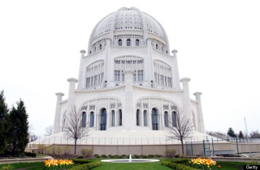 The Baha'i Temple Of Worship in Wilmette, Illinois.