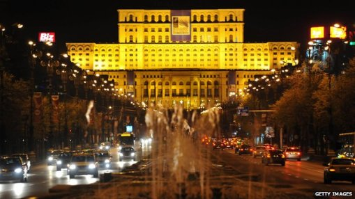 Parliament Palace, constructed at the time of dictator Nicolae Ceausescu, is reputed to be the world's second largest building after the Pentagon in the United States