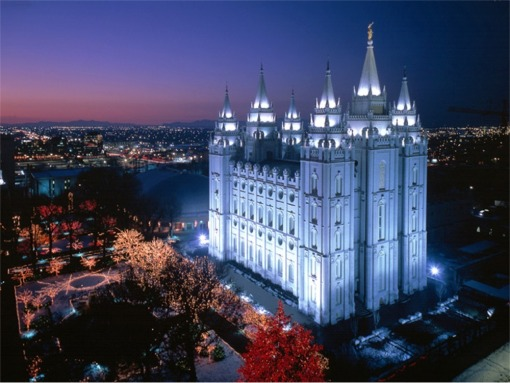The worldwide headquarters for The Church of Jesus Christ of Latter-day Saints  located in downtown Salt Lake City, Utah,