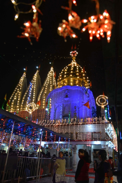 A view of the illuminated Shivala temple on the eve of the Maha Shivratri festival in Amritsar on February 26, 2014. (NARINDER NANU/AFP/Getty Images)