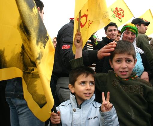 Newroz celebration, Istanbul. Photo by Bertil Videt