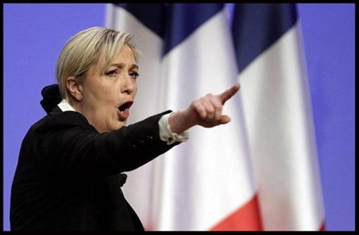 Marine Le Pen, president of far rights political party Front National (FN),